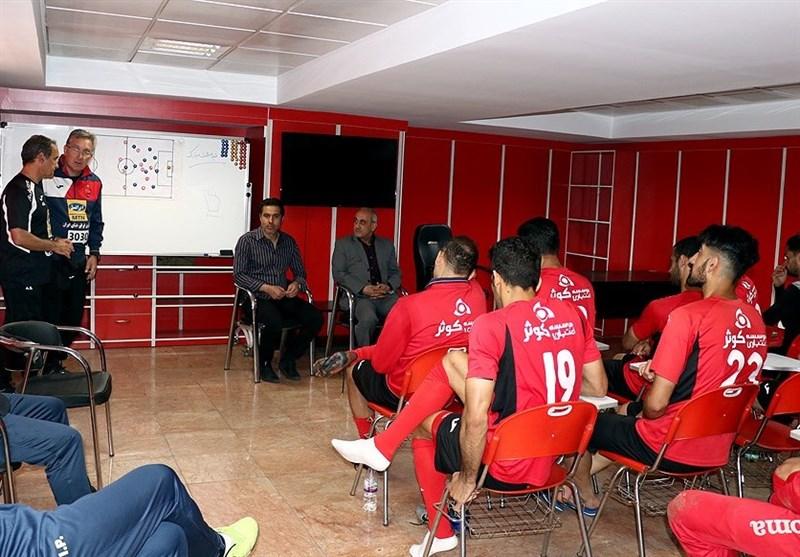 جلسه ویژه گرشاسبی، برانکو و پیروانی با بازیکنان پرسپولیس