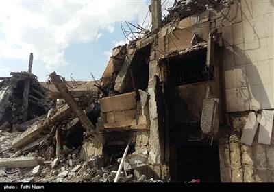 آثار بجا مانده حمله موشکی آمریکا به سوریه