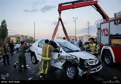 تصادف و حادثه رانندگی در اتوبان شهید زین الدین
