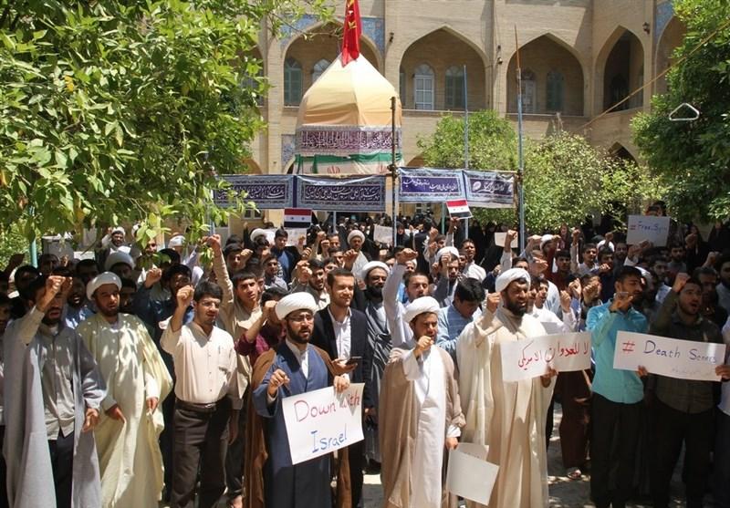 بوشهر| بوشهریها در محکومیت حمله جنایتکارانه به سوریه تجمع کردند + تصاویر