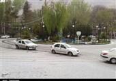 کرج| بارش برف و کولاک در محور کرج - چالوس