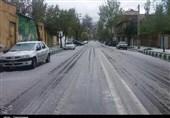 بجنورد  بارش برف محورهای خراسان شمالی را سفیدپوش کرد
