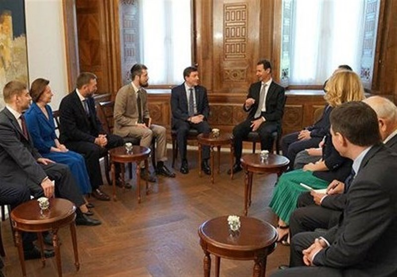 بشار اسد و گروه پارلمانی روسیه