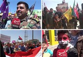 ویدئوی اختصاصی تسنیم از شمال سوریه| مردم حلب: «مانند درخت زیتون در سوریه پابرجا و استواریم»
