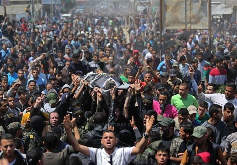 45 شهیداً و 6793 جریحاً منذ انطلاق مسیرة العودة