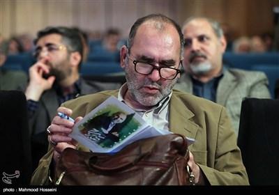 رضا برجی در مراسم انتخاب چهره سال هنر انقلاب اسلامی در سال 96