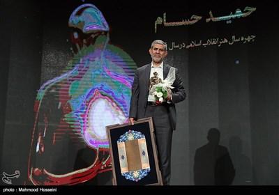 اننتخاب حمید حسام نویسنده دفاع مقدس به عنوان چهره سال هنر انقلاب اسلامی در سال 96