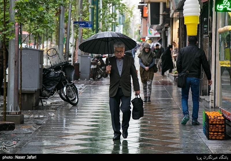 ادامه بارش باران تا پنجشنبه/ افزایش 12 درجهای دما در نیمه شمالی