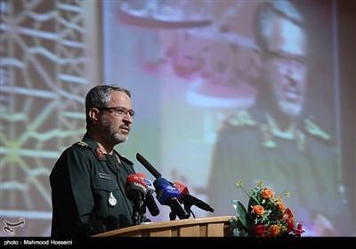 سخنرانی سردار غیب پرور رئیس سازمان بسیج در مراسم تکریم و معارفه جانشین سازمان بسیج