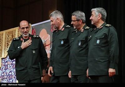 مراسم تکریم سردار علی فضلی و معارفه سردار محمدحسین سپهر جانشین جدید سازمان بسیج