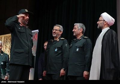 مراسم تکریم سردار علی فضلی جانشین اسبق سازمان بسیج