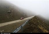 مهگرفتگی در اکثر محورهای خوزستان/ ترافیک سنگین در آزادراه کرج ـ تهران