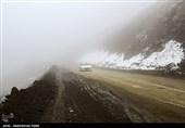 بارش برف و مهگرفتگی در محورهای 4 استان کشور