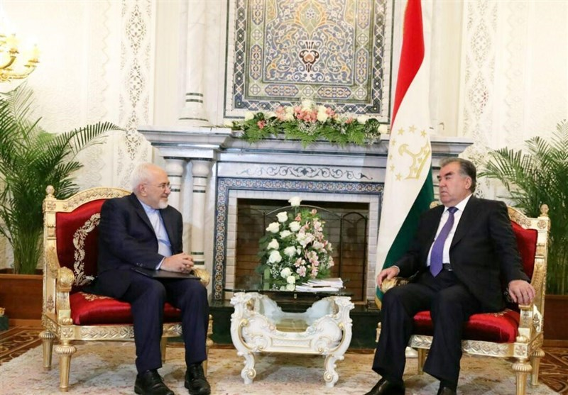 Iran's Zarif Meets Tajikistan's Rahmon in Dushanbe