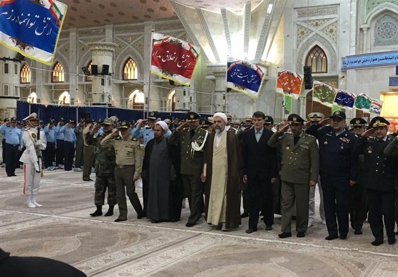 تجدید میثاق فرماندهان و کارکنان ارتش با آرمانهای امام(ره) + تصاویر