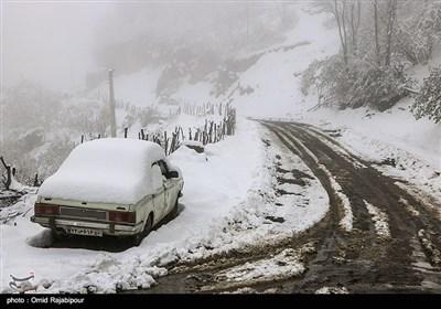 بارش برف بهاری -گیلان
