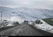 برف ارتفاعات استان قزوین را سفیدپوش کرد
