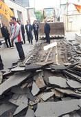 تخریب حیاط اداره آموزشوپرورش قرچک توسط مالک