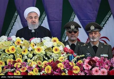 سخنرانی حجتالاسلام حسن روحانی رئیس جمهور در مراسم رژه روز ارتش