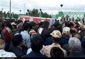 """خراسان رضوی  تشییع پیکر """"مرزبانِ شهید"""" توسط مردم قوچان+فیلم"""
