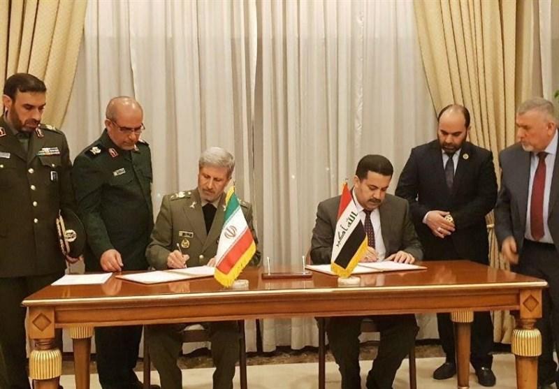 امضای یادداشت تفاهم همکاری بین وزارتخانههای دفاع ایران و صنایع عراق