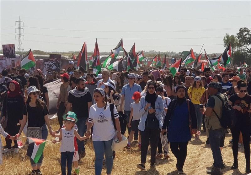 فلسطینیو الداخل المحتل یشارکون فی مسیرة العودة