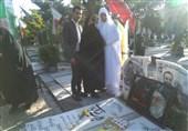 آغاز زندگی مشترک زوج جوان در کنار مزار شهید مدافع حرم+عکس