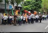 برپایی دسته سرودخوانی مدرسه رفاه در اعیاد شعبانیه + عکس و فیلم
