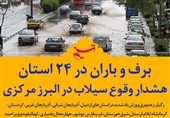 فتوتیتر| برف و باران در 24 استان