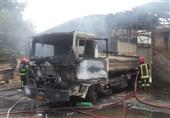 آتشسوزی گسترده دو سوله در چهاردانگه + تصاویر