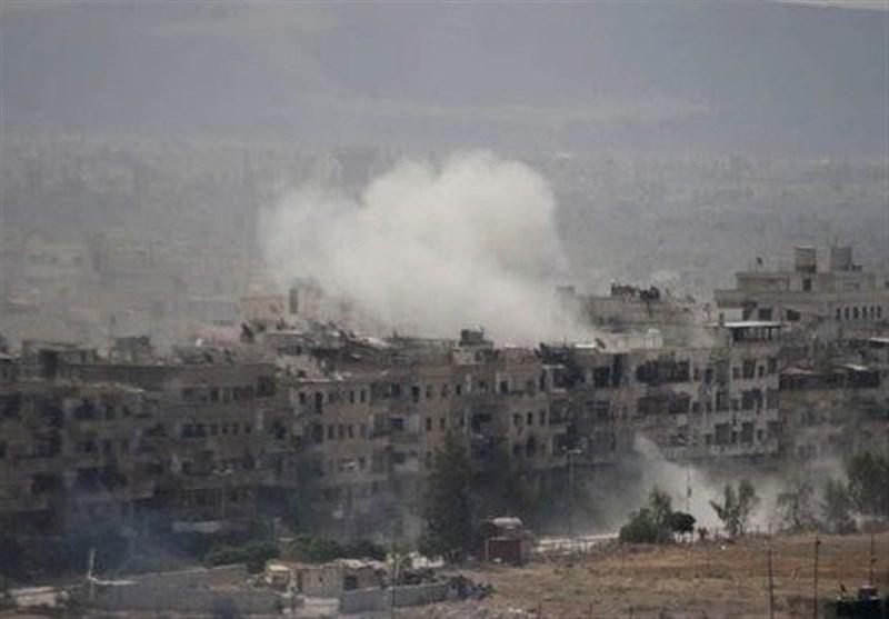 """ٍسلاح الجو السوری یستهدف تحصینات الارهابیین فی """"الحجر الأسود"""""""
