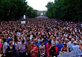 Armenian Police Gather in Center of Yerevan after Protest Begins