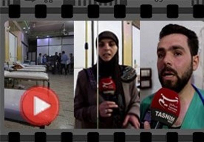 """عدسة تسنیم تدخل مشفى """"مسرحیة الکیماوی"""" فی دوما وتکشف حقیقة ما جرى على لسان الأطباء +فیدیو وصور"""