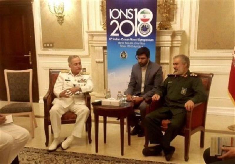 پاک ایران بحری فوج کے سربراہوں کی ملاقات/ سمندری تعاون بڑھانے پراتفاق