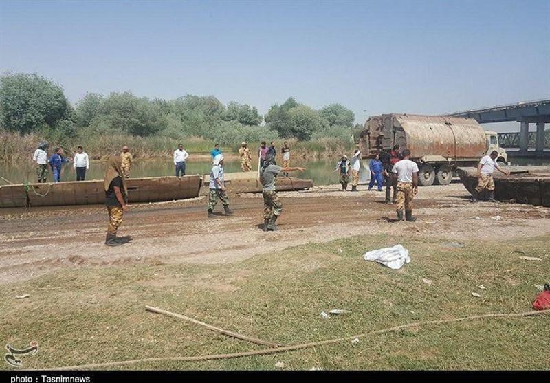 خوزستان | پل شهید ناجیان شوش همچنان بسته است+فیلم