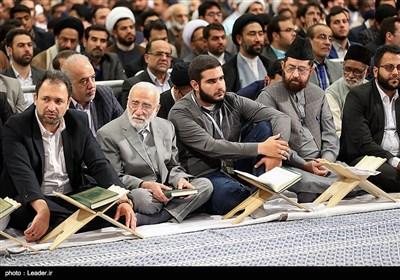 قائد الثّورة الإسلامیة یستقبل المشارکین فی مسابقات القرآن الکریم