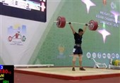 وزنهبردار زنجانی نشان نقره مسابقات جهانی را از آن خود کرد