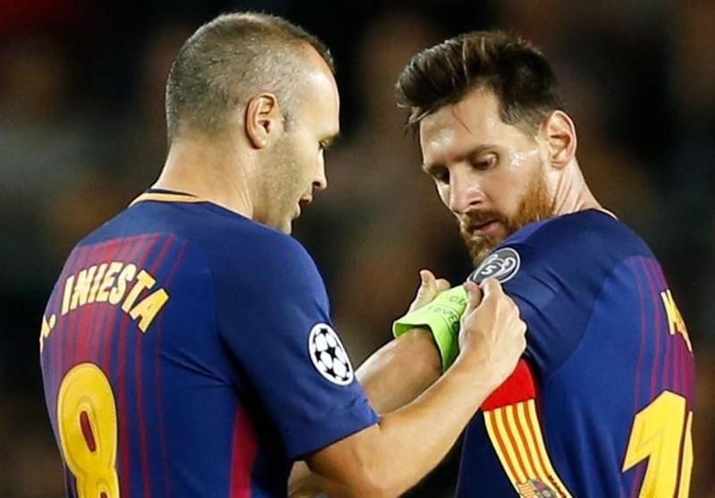 پیام مسی به اینیستا برای خداحافظی با کاپیتان بارسلونا