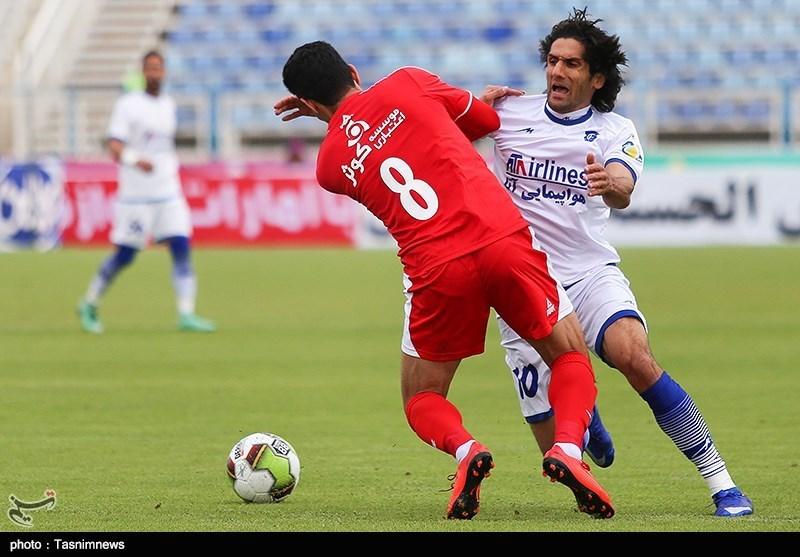 لیگ برتر فوتبال| تساوی گسترش فولاد و سپیدرود در نیمه نخست