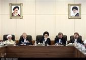 اولین جلسه مجمع تشخیص در ساختمان جدید با غیبت دوباره روحانی و لاریجانی و حضور احمدینژاد + عکس