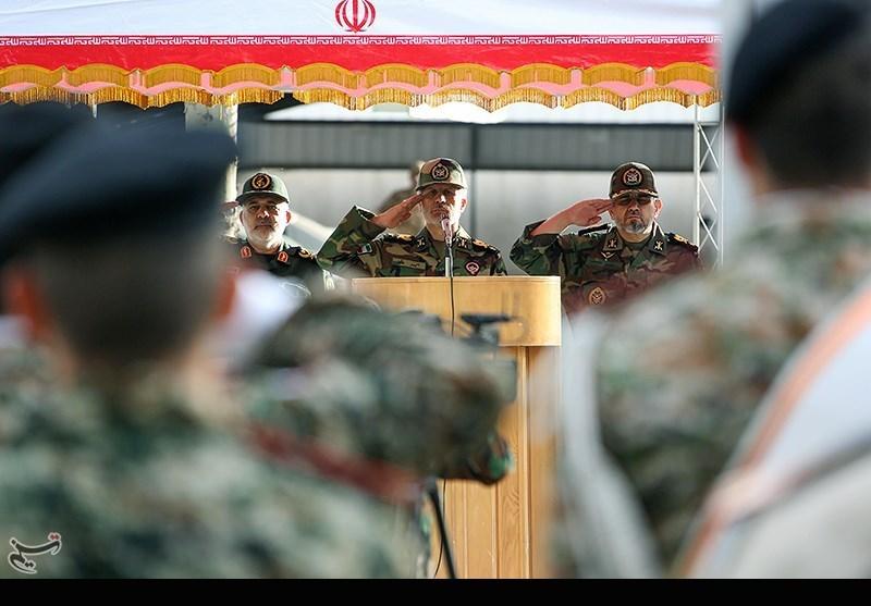 مراسم اعطای درجه توسط وزیر محترم دفاع در صبحگاه وزارت دفاع