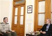 فرمانده ارتش با لاریجانی دیدار کرد + عکس