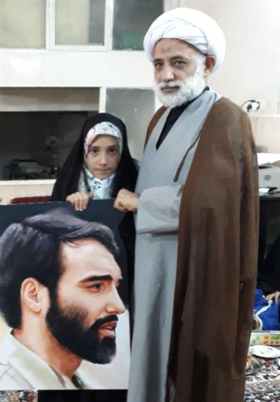 پرتره شهید مدافع حرم هدیه تولد دخترش شد +تصاویر