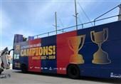 جشن قهرمانی بارسلونا از دریچه تصاویر
