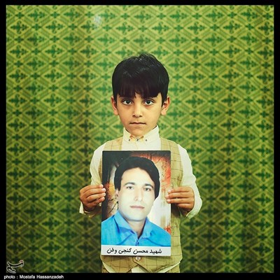 ابولفضل گنجی وطن ۶ ساله ساکن روستای وطن