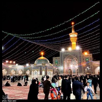 حرم علی ابن الموسی الرضا(ع) در آستانه نیمه شعبان