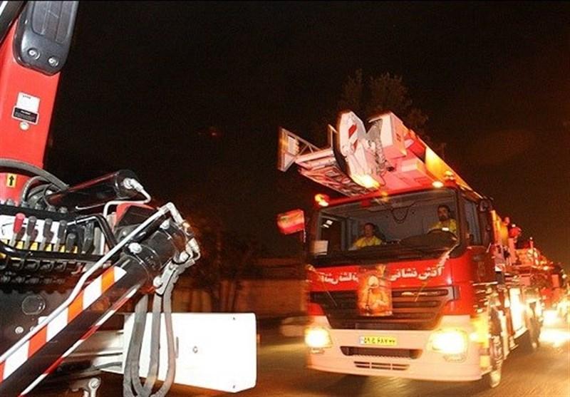 نجات 100 نفر از آتشسوزی بامدادی در برج 12 طبقه مسکونی