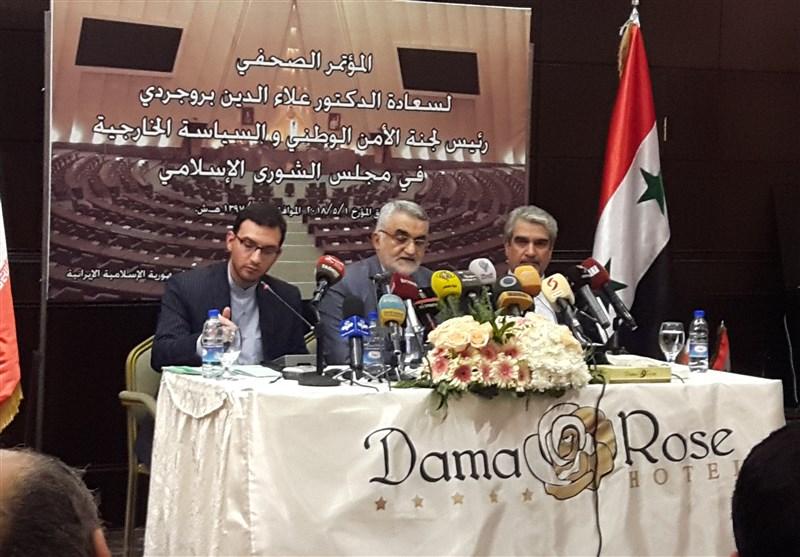 بروجردی در دمشق: به هرگونه تجاوز به ایران، در زمان مناسب واکنش نشان میدهیم