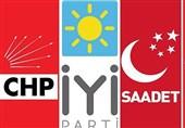 چهار حزب مخالف دولت ترکیه برای ائتلاف علیه اردوغان به توافق رسیدند
