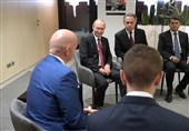 دیدار پوتین و رئیس فیفا در سوچی